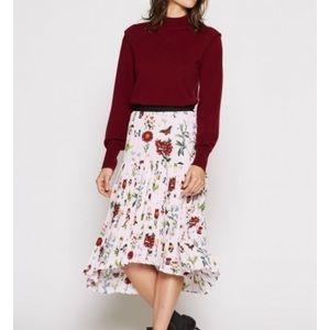 Joie Silk Floral Skirt